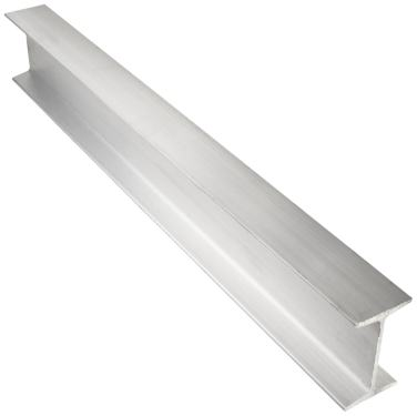 Squared Corners 4 Leg Lengths Unpolished 24 Length Mill Equal Leg Length 6 Width Extruded Temper 6061 Aluminum I-Beam Finish 0.35 Wall Thickness ASTM B221