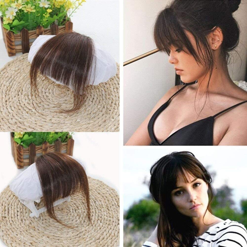 Ugeat Air Fringe Bangs Clip in Hair Extensions Front Neat Bang Fringe without Hair Temples One Piece Striaght Hairpiece Accessorie