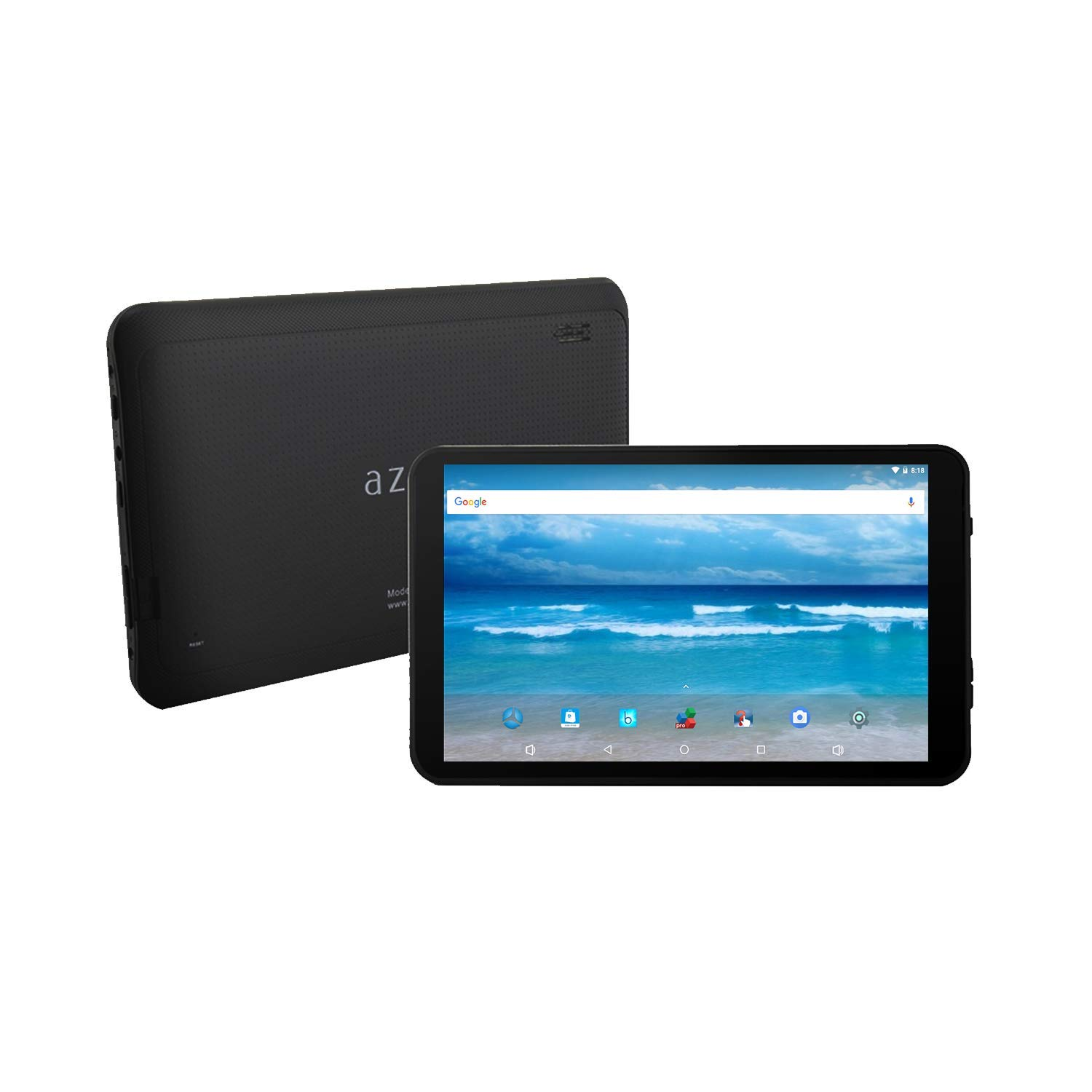 """Azpen 7"""" Inch Touchscreen, Android 8.1 Oreo, Google Certified HD Tablet, 1GB RAM, 8GB Memory, Bluetooth, Camera, Micro SD Port."""