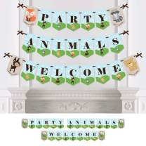 Big Dot of Happiness Woodland Creatures - Baby Shower or Birthday Party Bunting Banner - Party Decorations - Party Animals Welcome