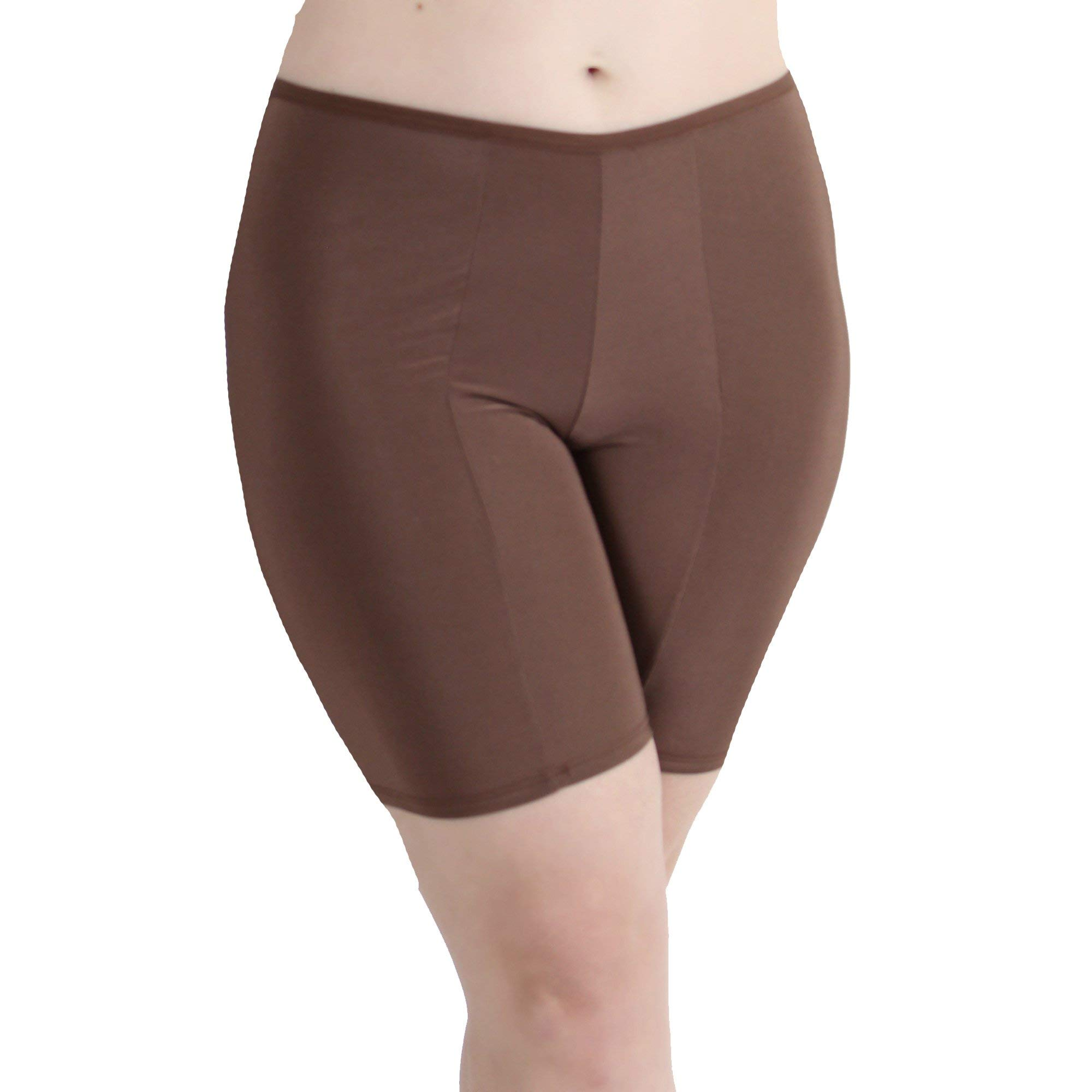 Undersummers Classic Shortlette: Plus Size Anti Thigh Chafing Slip Shorts for Under Dresses(Small to 5X Plus Size)