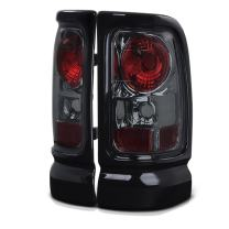 VIPMOTOZ For 1994-2001 Dodge RAM 1500 2500 3500 Chrome Smoke Euro Style Altezza Tail Light Housing Lamp Assembly Replacement Driver and Passenger Side