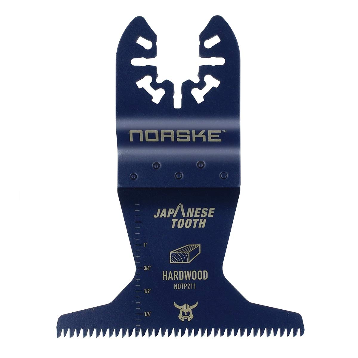 Norske Tools NOTP211 2-3/4 inch Japanese Tooth Bi-Metal Oscillating Multi Tool Accessory Blade