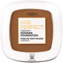 L'Oreal Paris Age Perfect Creamy Powder Foundation Compact, 360 Sienna, 0.31 Ounce