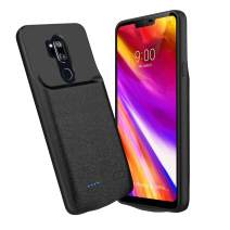NEWDERY LG G7 Thinq Battery Case, 4700mAh LG G7 Slim Portable Extended Charger Case with Soft Edge Full Protection, Battery Charging Case with USB C Input for LG G7 Plus ThinQ