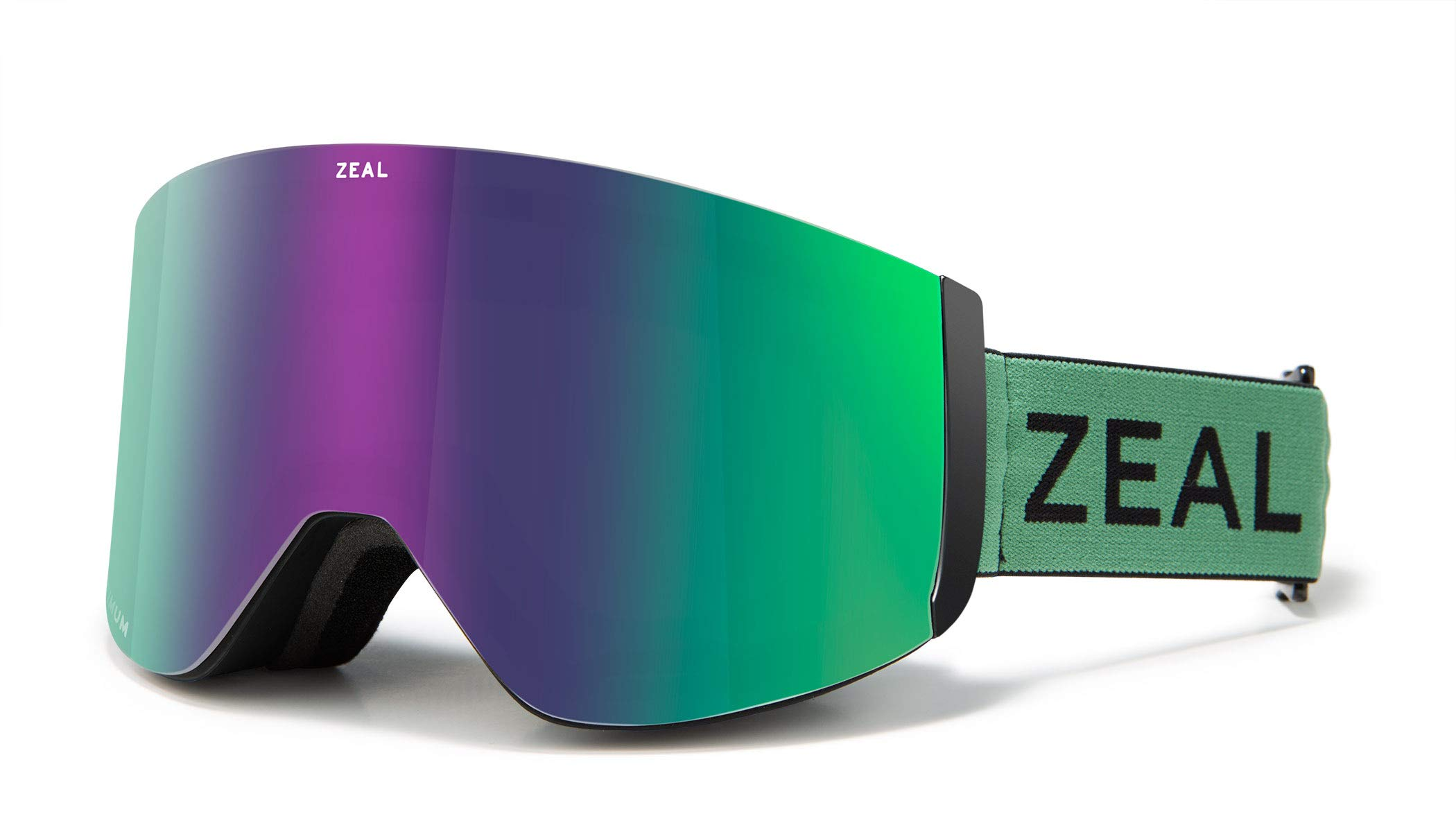 Zeal Optics Hatchet - Frameless Ski & Snowboard Goggles for Men & Women, Rail Lock System Goggles