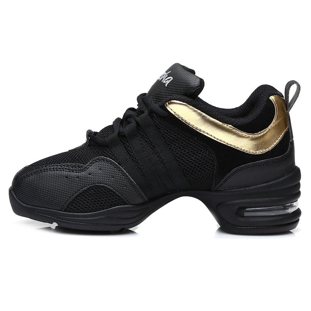 DKZSYIM Men and Women's Boost Dance Sneaker/Modern Jazz Ballroom Performance Dance-Sneakers Sports Shoes,Model B55/B56