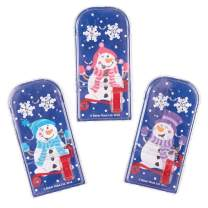 Baker Ross Jolly Snowman Pinball Games, Christmas Arts and Crafts (Pack of 8)