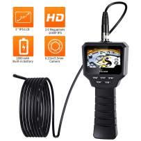 VOLADOR Industrial Endoscope, 1080P 2.0MP HD Digital Borescope Camera, Handheld Endoscope Camera, 5.5mm Waterproof Snake Camera, Semi-Rigid Inspection Camera -16.4ft/5Meter