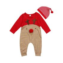 Dofel Christmas Outfits Baby Boys My 1st Christmas Rompers Bodysuit Santa Claus Pants with Christmas Hat