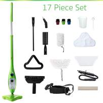 H2O Mop X5 Elite Mop 5 in 1 All-Purpose Hand-Held Steam Cleaner for Home Use, with 17 Piece Accessory Kit