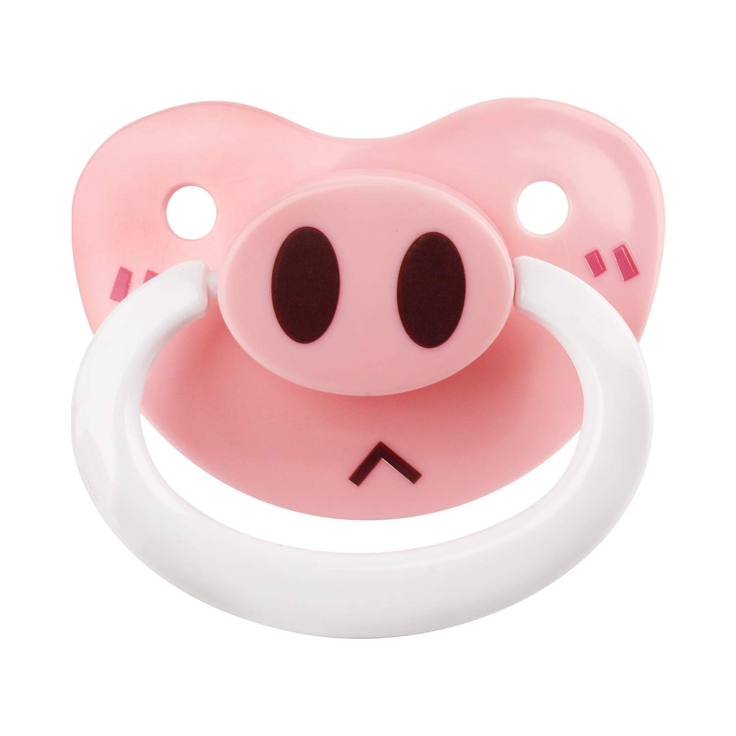 TEN@NIGHT Christmas Adult Baby Pacifier Dummy Silicone Nipple Teat DDLG Cute Printing Animal (Pink+White)