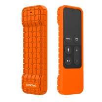 TiMOVO Protective Case Compatible for TV 4K/4th Gen Remote, Anti Slip & Shock Proof Skin, Lightweight Soft Silicone Cover Fit TV 4K Siri Remote Controller - Orange