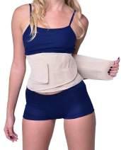 YIANNA Waist Trimmer Belt Weight Loss Wrap Stomach Fat Burner Low Waist and Back Support Adjustable Best Abdominal Trainer,YA8001-Beige-S