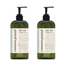 Common Ground Natural Body Wash, Paraben and Cruelty Free; Organic, Vegan, Plant-Based Formula, Botanical Scent and Avocado Oil Extract; for Men, Women, Sensitive Skin (2 x 16.9 fl oz)