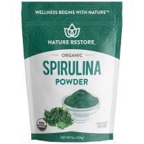 USDA Certified Organic Spirulina Powder, 8 Ounces, Non-GMO, Gluten Free, Vegan