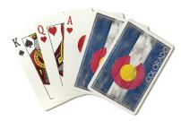 Rustic Colorado State Flag (Playing Card Deck - 52 Card Poker Size with Jokers)