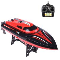 Fisca RC Boat High Speed Remote Control Electric Racing Boat for Pools and Lakes, 25KMH/15MPH 2.4GHz Automatically Flips Transmitter with LCD Screen