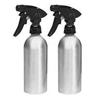 iDesign Metro Aluminum 12 oz. Spray Bottle - Brushed/Black (Pack of 2)