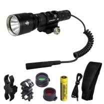Nitecore MH25GT 1000 Lumens 494 Yards Rechargeable Hunting Light Kit for Hog, Coyote, Varmint and Predator Hunting