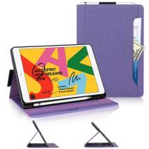 iPad 10.2 2019 Case, iPad 7th Generation Case, Skycase [Built-in Pencil Hoder] [Auto Sleep/Wake] [Multi-Angle Viewing] Stand Folio Case for iPad 7th Generation 10.2 inch 2019, Purple