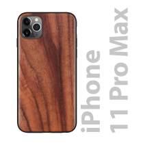 iATO iPhone 11 Pro Max Case Wood Grain. Unique & Classy Real Walnut Wood iPhone 11 Pro Max Case {Protective Shockproof Bumper & Raised Lips Face Down Screen Protection} iPhone 11 Pro Max Wood Case