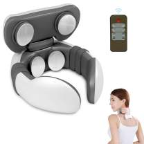 Neck Massager, Neckology Intelligent Neck Massager with Heat, Adjustable 6 Modes and 9 Levels Cordless Massager for Neck Shoulder Pain Relief
