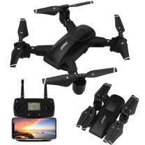 JJRC 5G WiFi FPV Foldable Drone with 1080P HD Camera Live Video,GPS Drone 30Mins(15+15) Long Flight Time RC Quadcopter with Follow me,Smart Return Home,Folding RC Drone for Adults