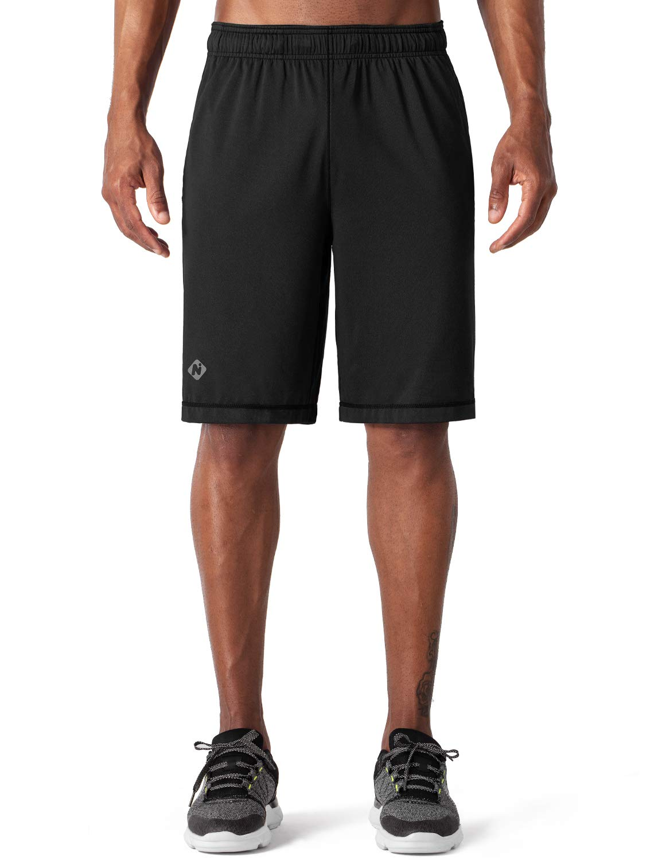 "Naviskin Men's 10"" Quick Dry Workout Training Shorts UPF 30+ Outdoor Running Shorts"