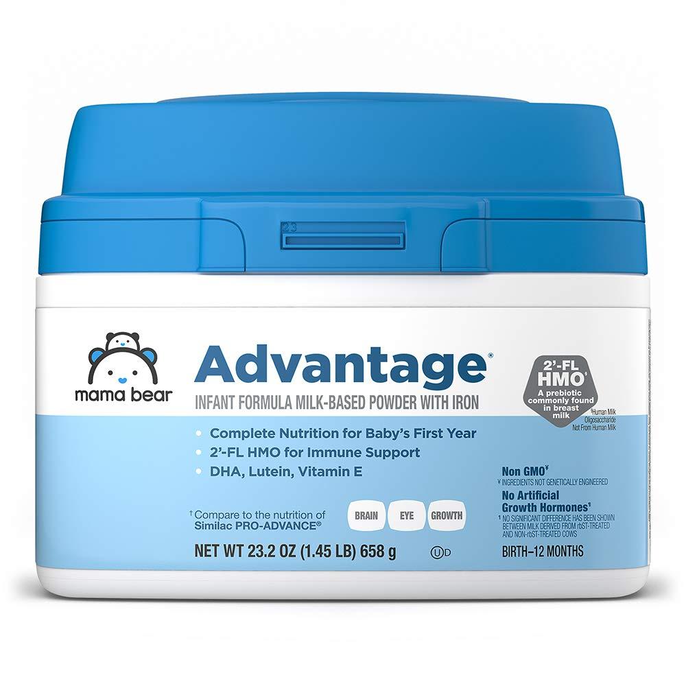 Amazon Brand - Mama Bear Advantage Infant Formula Milk-based Powder With Iron, Non-gmo, 23.2 Ounce