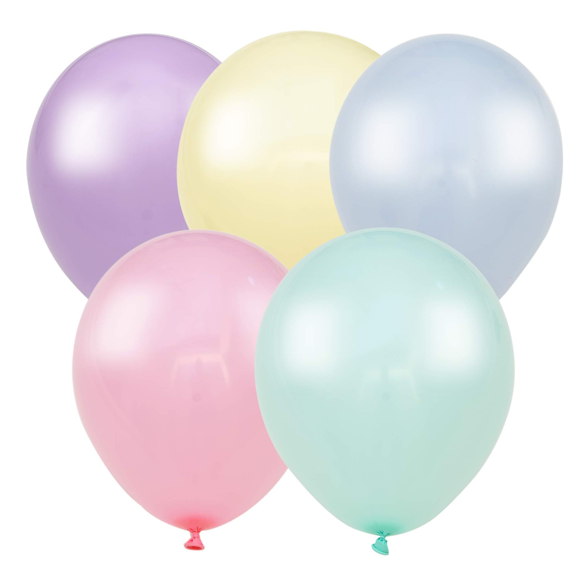 200 Small Pastel Balloons for Parties – 5 Inch Balloons Bulk Pack – Mini Assorted Blue, Light Purple, Yellow, Mint Green and Pastel Pink Balloons for Unicorn, Easter, Matte, or Macaron - Rainbow Party