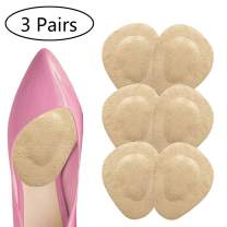 Ball of Foot Cushions Metatarsal Pads Adhesive Forefoot Pad for Women High Heel-Neuroma, Metatarsalgia Pain Relief-Massage Effect-3 Pairs (Nude)