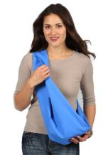 HugaMonkey Cotton Baby Sling Wrap Carrier for Newborn Babies, Infants and Toddlers Upto 3 Years - Blue, Extra Large