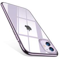 TORRAS Crystal Clear iPhone 11 Case, [Anti-Yellow] Thin Slim [Anti-Scratch] Shockproof Soft TPU Cover Case for iPhone 11 6.1 inch, Purple