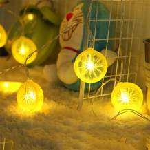 Novelty Lemon Decor Fairy String Lights with 20 LED, Battery Operated Warm Twinkle Christmas String Lights for Kitchen,Party,Wedding,Festival,Home Decorations,13ft/4m (Provide Two Extra Lemon Slices)