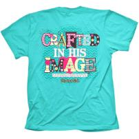 Cherished Girl Women's Crafted in His Image T-Shirt - Teal -