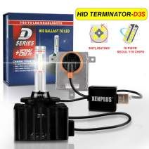 XENPLUS D3S D3R LED Headlight Bulb Conversion Kit 360° Emitting Seoul Y19 CHIP 6500k 9000LM Headlamp 42302,1 Year Warranty(pack of 2)