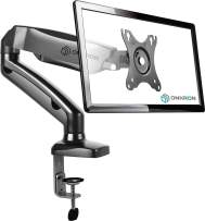 ONKRON Monitor Desk Mount Stand for 13 to 27-inch LCD LED OLED Flat TV Screens up to 14.3 lbs G80 Black