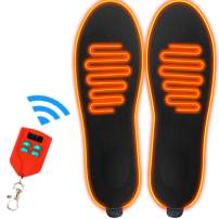 LONHEO Upgraded Heated Insoles Foot Warmers USB Rechargeable Battery 2000mAh Wireless Remote Control for Winter Adventures Hunting Hiking Skiing