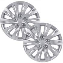 """BDK (2Pc Replacement) Premium 16 Inch Hubcap 16"""" Wheel Rim Cover Hub Caps OEM Style Snap On for Car Truck SUV"""