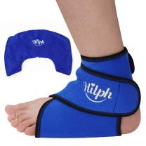Hilph®Ice Pack for Foot & Ankle, Reusable Ankle Ice Pack Hot Cold Gel Wrap for Ankle, Foot's Plantar Fasciitis, Achilles Tendon Injuries, Sprained Ankle, Swelling, Arthritis -Round All-Inclusive