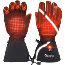 LONHEO Heated Gloves - Temperature Adjustable Washable Outdoor Activities, Electric Heated Ski Gloves Raynaud,&Arthritis