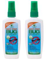 Greenerways Organic Mosquito Insect-Repellent, USDA Organic, Non-GMO, Natural Bug-Spray, Mosquito-Repellent, Best Outdoor Bug-Repellant DEET-Free (2 Pack Deal, 4OZ) $23.98