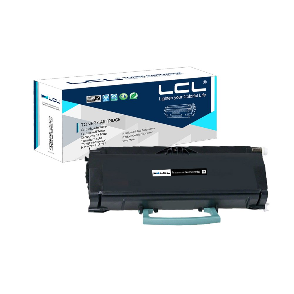 LCL Remanufactured Toner Cartridge Replacement for Lexmark E460X11A E460X21A 15000 Pages E460 460dn 460dw (1-Pack Black)