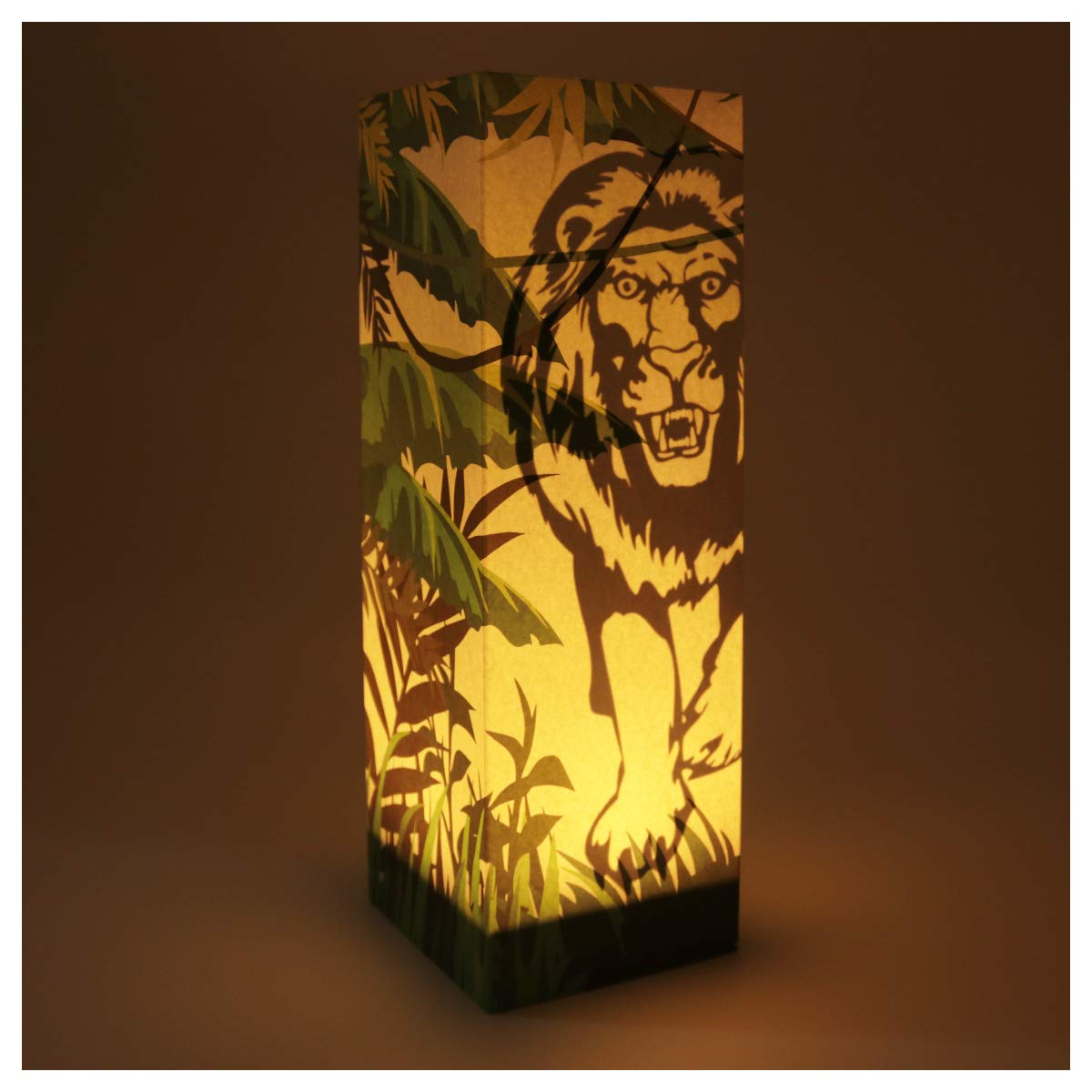 Lion Paper Lanterns Decorative Creative Novelty Paper Lanterns Collapsible Safety Material USB Low Power Energy Save Lamp Hall Bedroom Baby Room Christmas Decor Kids Adult Friends Gift