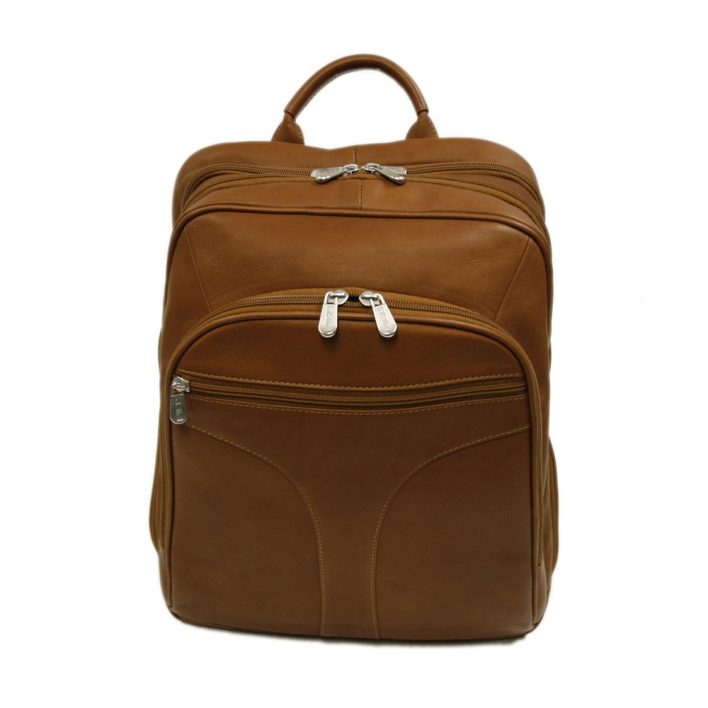 Piel Leather Checkpoint Friendly Urban Backpack, Saddle, One Size