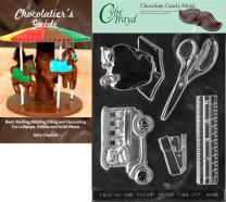 Cybrtrayd Teacher's Kit Chocolate Candy Mold with Chocolatier's Guide Instructions Book Manual