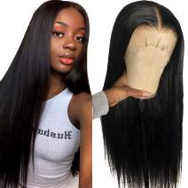 HD Transparent Lace Front Wigs Human Hair Pre Plucked 9A Virgin Brazilian Human Hair Wigs For Black Women With Baby Hair Ntural Color Pizazz Hair Wigs(10'', Straight Wigs)