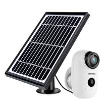 Solar Powered Wireless Home Security System, 1080P Outdoor WiFi Camera Surveillance Camera, Night Vision, Motion Detection, 2-Way Audio, SD/Cloud, IP65 Waterproof