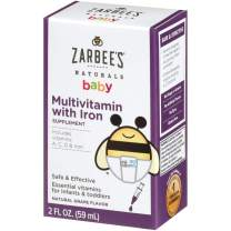 Zarbee's Naturals Baby Multivitamin with Iron, Natural Grape Flavor, 2 Ounce Bottle